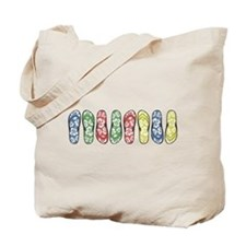 Rainbow Flops Tote Bag