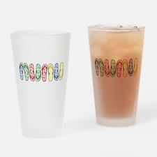 Rainbow Flops Drinking Glass