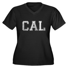 CAL, Vintage, Women's Plus Size V-Neck Dark T-Shir