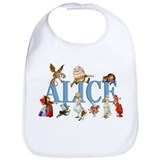 Alice in wonderland Cotton Bibs