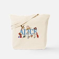 Alice & Friends in Wonderland Tote Bag