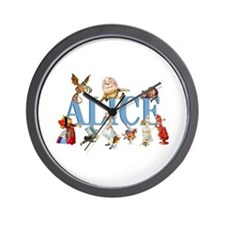 Alice & Friends in Wonderland Wall Clock