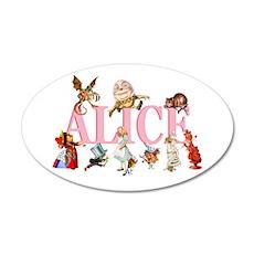 Alice & Friends in Wonderland 22x14 Oval Wall Peel