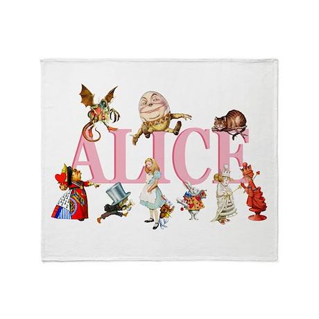 Alice & Friends in Wonderland Throw Blanket