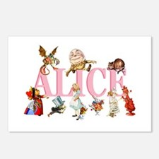 Alice & Friends in Wonderland Postcards (Package o