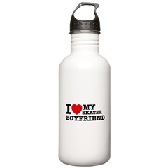 I love My Skater Boyfriend Water Bottle