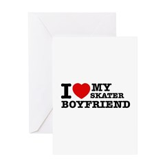I love My Skater Boyfriend Greeting Card