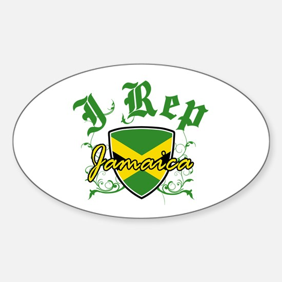 I Rep Jamaica Sticker (Oval)