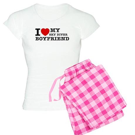 I love My Sky Diver Boyfriend Women's Light Pajama