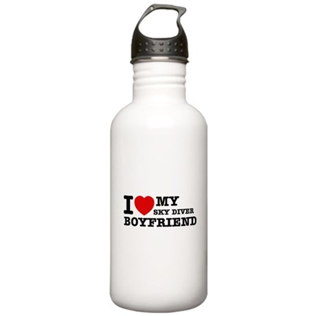 I love My Sky Diver Boyfriend Stainless Water Bott