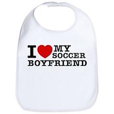 I love My Soccer Boyfriend Bib