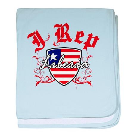 I Rep Liberia baby blanket