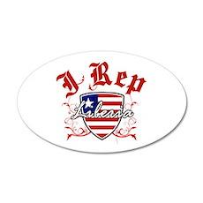 I Rep Liberia 22x14 Oval Wall Peel