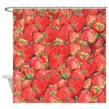 Cute Strawberries Shower Curtain
