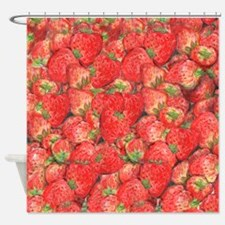 Cool Strawberries Shower Curtain