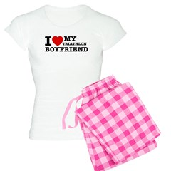 I love My Triathlon Boyfriend Pajamas