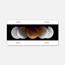 Lunar Eclipse Aluminum License Plate