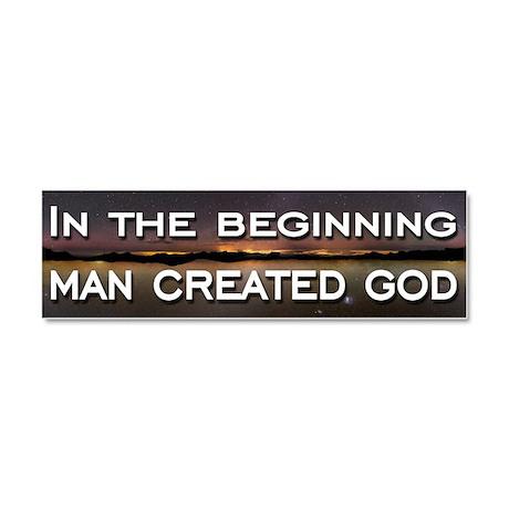 Man created god Car Magnet 10 x 3