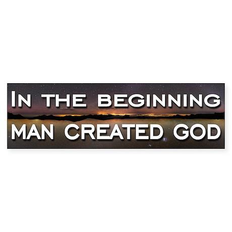 Man created god Sticker (Bumper 10 pk)