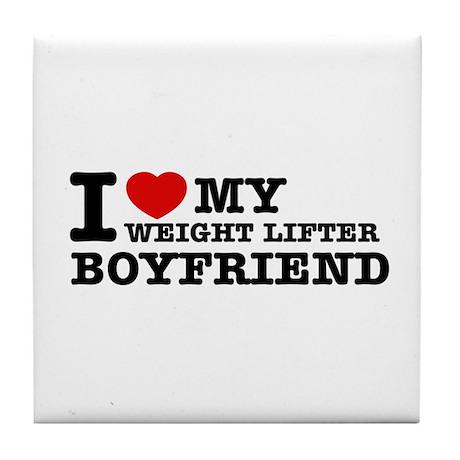 I love My Weight Lifter Boyfriend Tile Coaster