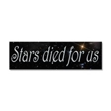 Stars Died for Us Car Magnet 10 x 3
