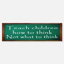 Teach Children How Bumper Bumper Sticker