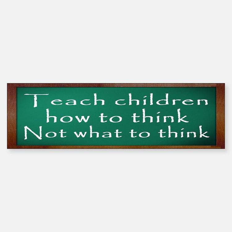 Teach Children How Bumper Bumper Sticker