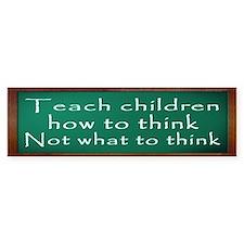 Teach Children How Bumper Sticker
