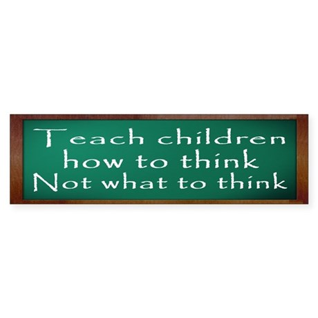Teach Children How Sticker (Bumper)