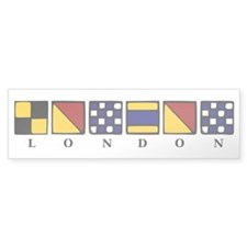 Nautical London Bumper Sticker