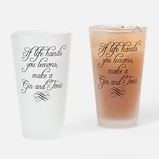 Life Hands Lemons Drinking Glass