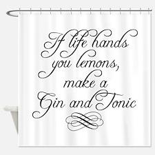 Life Hands Lemons Shower Curtain