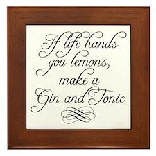 Life Hands Lemons Framed Tile