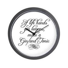 Life Hands Lemons Wall Clock
