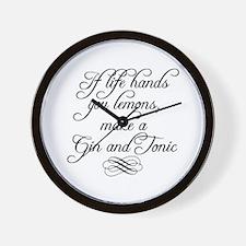Life Hands Lemons Wall Clock
