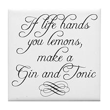 Life Hands Lemons Tile Coaster