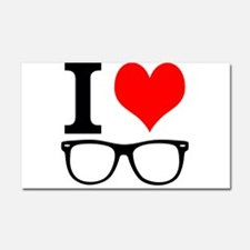 I love hipsters. Car Magnet 20 x 12