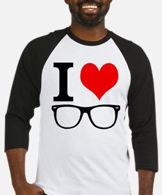 I love hipsters. Baseball Jersey