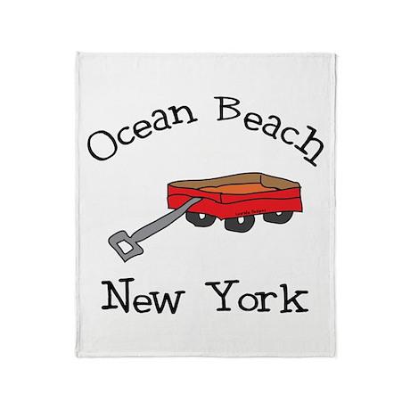 Ocean Beach Fire Island Throw Blanket