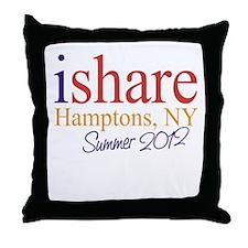 Hamptons Summer Share Throw Pillow