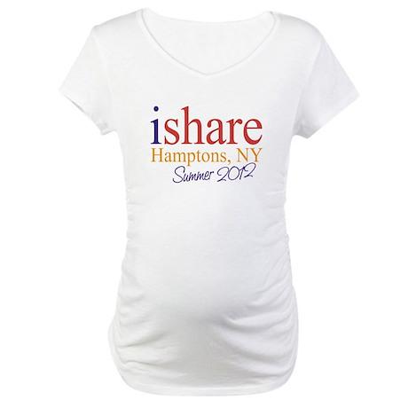 Hamptons Summer Share Maternity T-Shirt