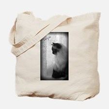 DollyCat Atmosphere BW - Ragdoll Cat Design - Tote