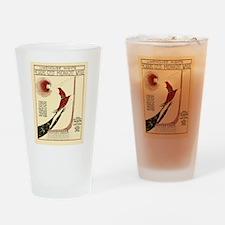 New York Vintage Drinking Glass