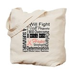 Uterine Cancer Persevere Tote Bag
