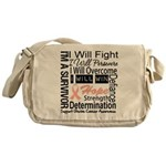 Uterine Cancer Persevere Messenger Bag