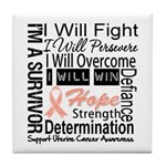 Uterine Cancer Persevere Tile Coaster