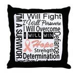 Uterine Cancer Persevere Throw Pillow