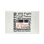 Uterine Cancer Persevere Rectangle Magnet (10 pack