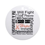 Uterine Cancer Persevere Ornament (Round)