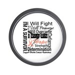 Uterine Cancer Persevere Wall Clock